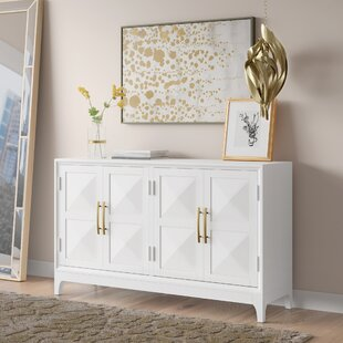 Aiello Four Door Geometric Front Sideboard by Mercer41