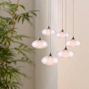 Wrought Studio Alvie 6-Light LED Cluster Pendant