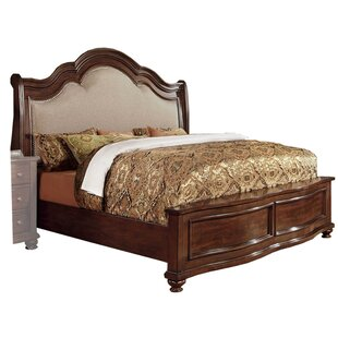 Tores Wooden Eastern King Upholstered Sleigh Bed
