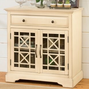 Herminia Fretwork Wooden 2 Door Accent Cabinet by Charlton Home
