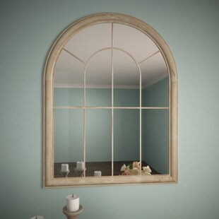 Window mirrors youll love wayfair round top windowpane garden mirror teraionfo