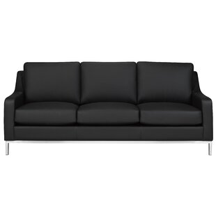 Bland Leather Sofa by Rosdorf Park Savings