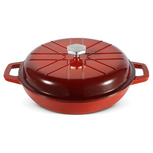 3 Qt. Cast Iron Round Braiser with Lid