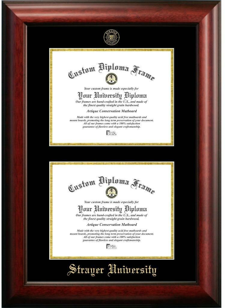 Diploma Frame Deals Strayer University Double Degree Diploma Picture ...