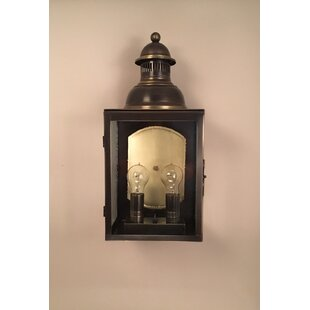 Velda Traditional 2-Light LED Outdoor Wall Lantern by Darby Home Co