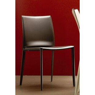 Bontempi Casa Linda Genuine Leather Upholstered Dining Chair (Set of 2)