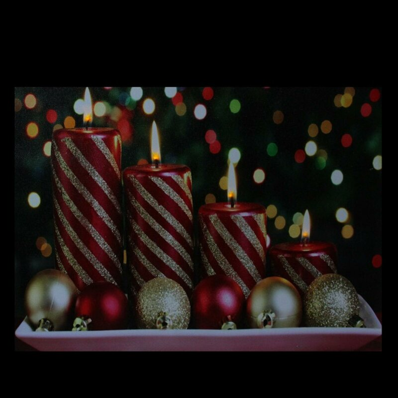 The Holiday Aisle 'LED Lighted Christmas Candles' Photographic Print ...