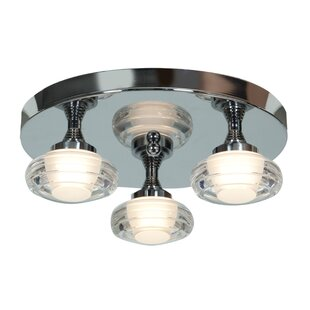Jimenez 3-Light LED Outdoor Semi Flush Mount