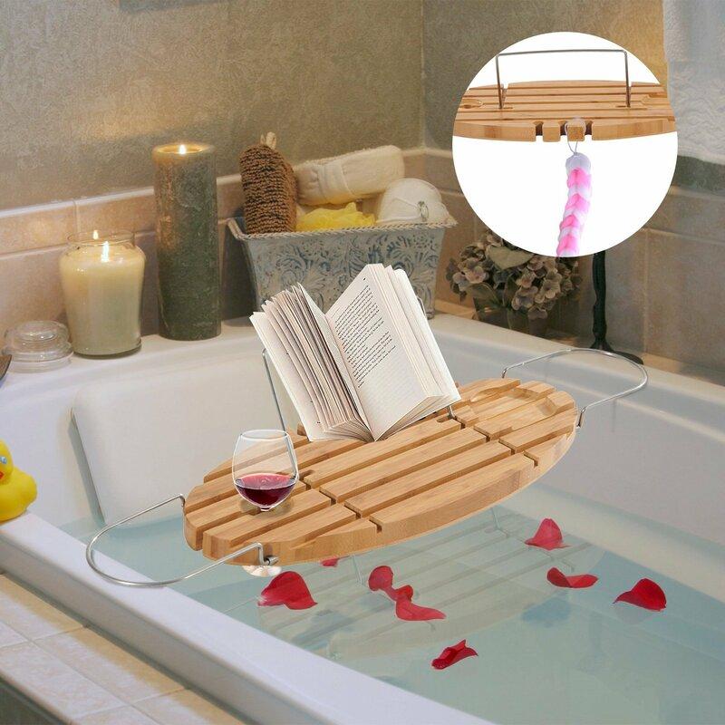 Homcom Extendable Bamboo Bath Rack & Reviews   Wayfair.co.uk