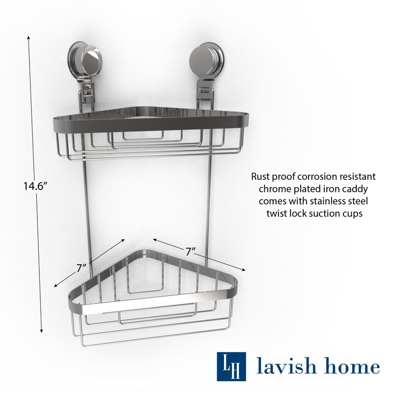 Wall Mounted 2 Tier Corner Shower Caddy