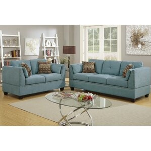 Bobkona Zenda 2 Piece Living Room Set by Pou..
