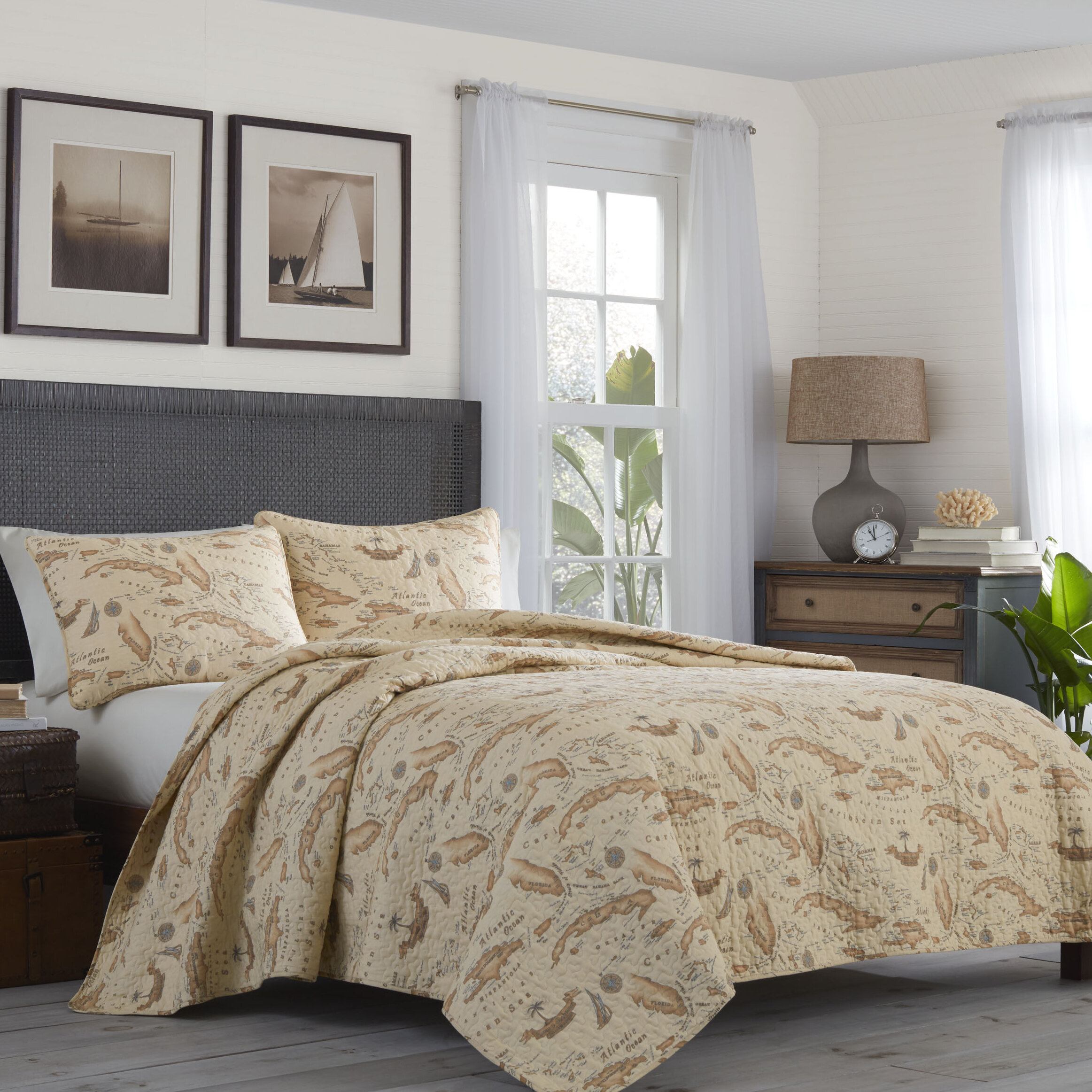 Picture of: Map 3 Piece Reversible Quilt Set By Tommy Bahama Bedding Reviews Joss Main