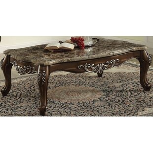 Mccloud Coffee Table with Marble Top