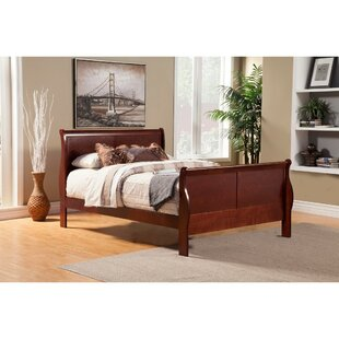 Fansler Rubberwood Sleigh Bed by Darby Home Co