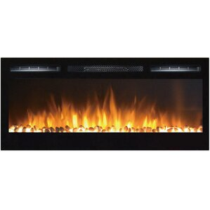 Jemaine Wall Mount Electric Fireplace by Orren Ellis