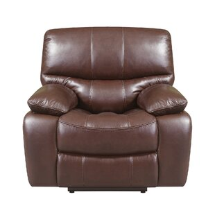 Ledoux Leather Power No Motion Recliner by Red Barrel Studio