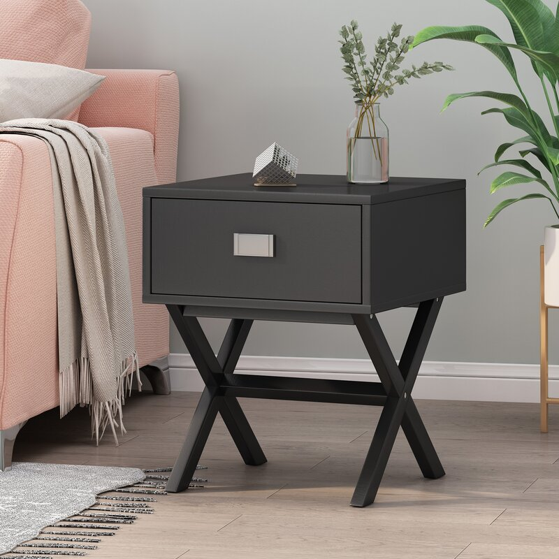 Highland Dunes Amy End Table With Storage Reviews Wayfair