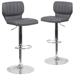 Price Check Norrell Adjustable Swivel Bar Stool (Set of 2) by Orren Ellis Reviews (2019) & Buyer's Guide
