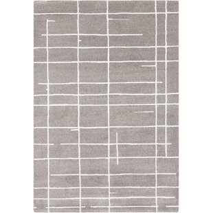 Top Sky Gray/White Area Rug By Langley Street