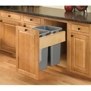 Rev-A-Shelf Double Top Mount 12.5 Gallon Pull Out/Under Counter Pull Out/Under Counter Trash Can