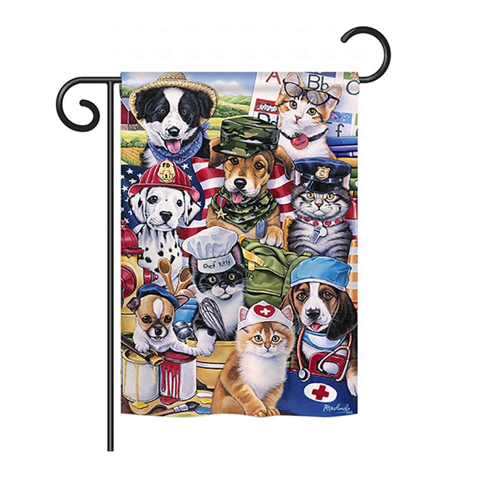 Garden Flag For Grandparents Grandkids Spoiled Here Double Sided Decorative Flags 100 Polyester And Waterproof Fade And Mildew Resistant 28 X 40 Inch
