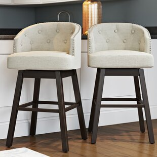 Farmington 31 Swivel Bar Stool (Set of 2) Alcott Hill