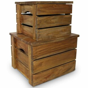 Solid Wood 2 Piece Organiser Box Set By August Grove