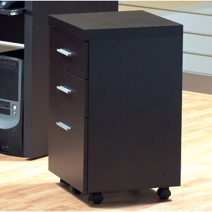 3-Drawer Hollow-Core Mobile File Cabinet by Monarch Specialties Inc.