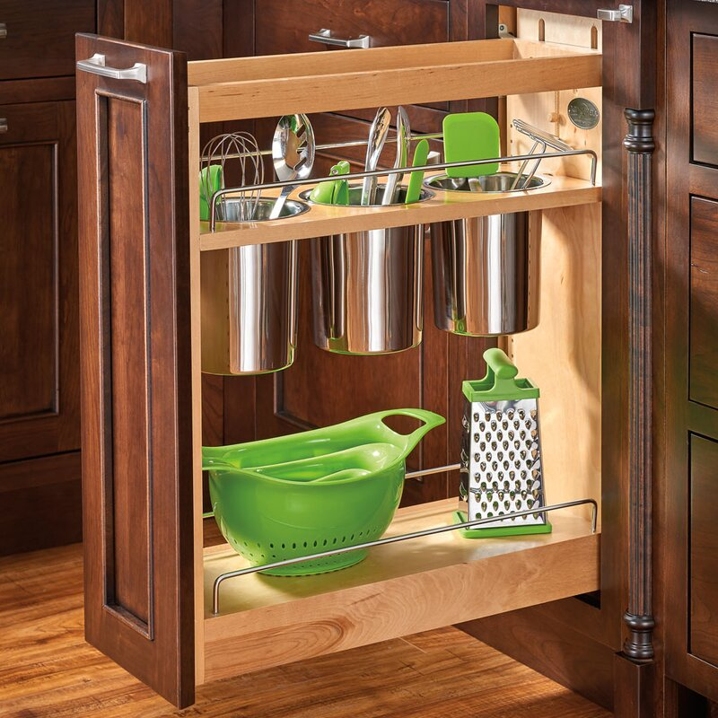 Kitchen Cabinet Pull Out Shelf | Wayfair