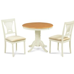 Chesterton 3 Piece Drop Leaf Solid Wood Dining Set Alcott Hill