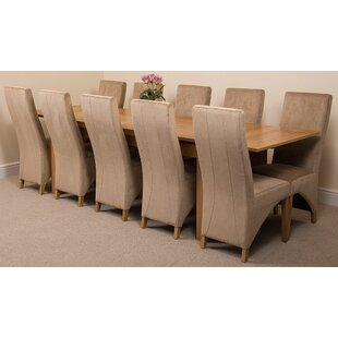 Review Kenia Dining Set With 10 Chairs