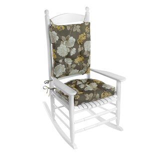 Indoor/Outdoor 2 Piece Porch Rocking Chair Cushion Set