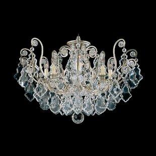 Schonbek Versailles 8-Light Semi Flush Mount