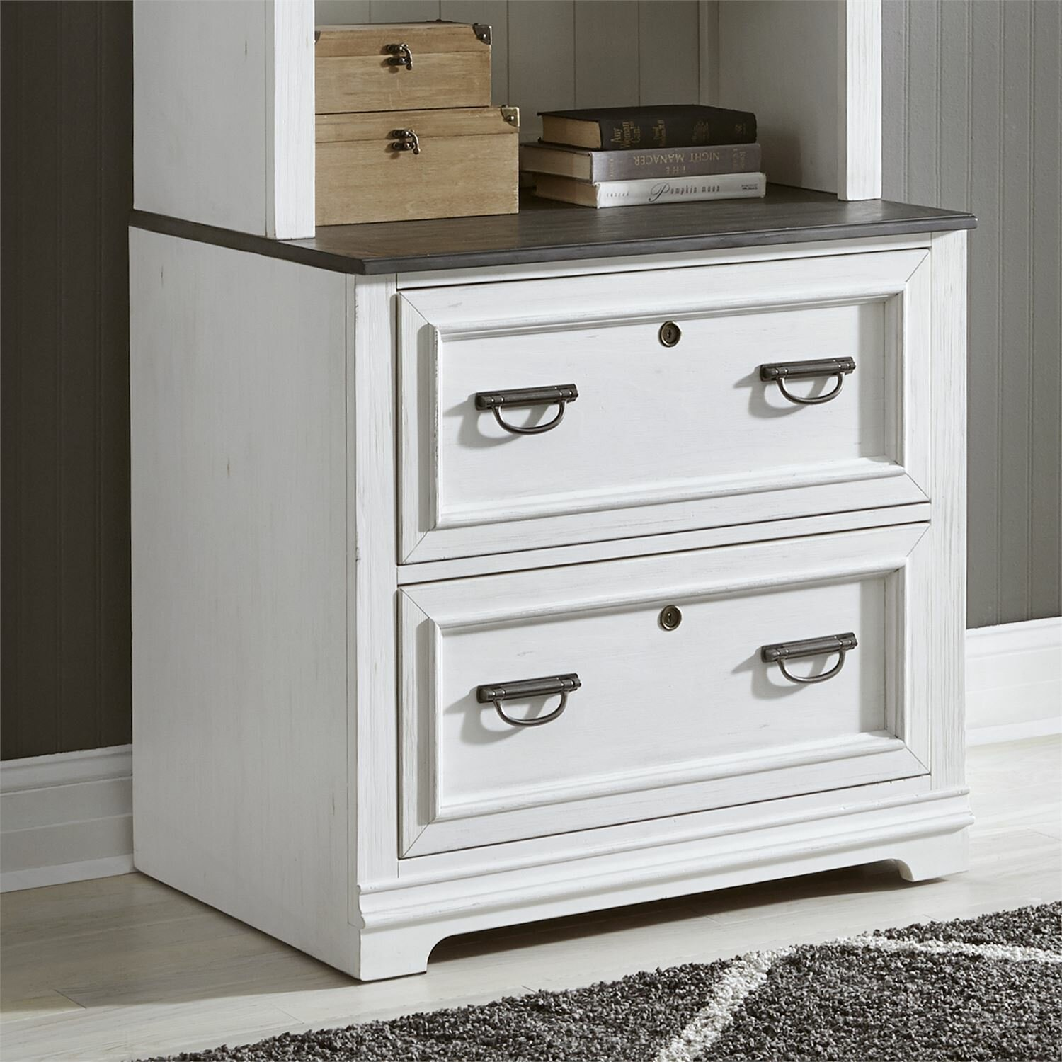 Image of: Rosalind Wheeler Charland 2 Drawer Lateral Filing Cabinet Wayfair