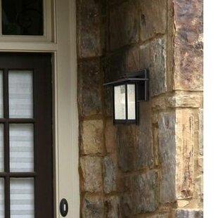 Necaise 1-Light Outdoor Wall Lantern by Breakwater Bay