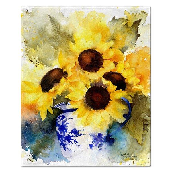 """Sunflowers /& Pumpkins Fall Mircofleece Throw Blanket 50/""""x60/"""""""