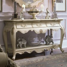 Lavelle Console Table and Mirror Set in Blanc by Michael Amini (AICO)