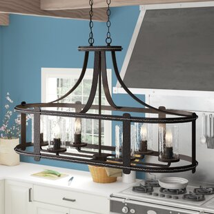 Laurel Foundry Modern Farmhouse Halcott 6-Light Kitchen Island Pendant