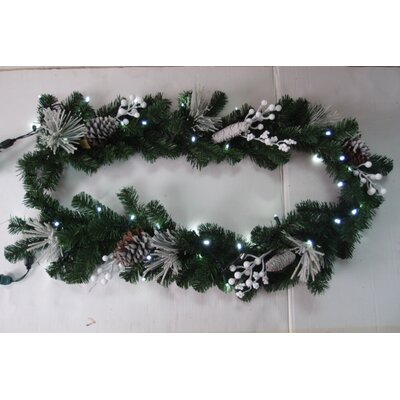 Queens of Christmas 6' Length Flocked Garland with Lights