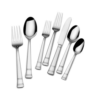 Evie 22 Piece 18/10 Stainless Steel Flatware Set, Service for 4
