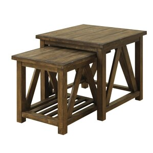 Bluffstone 2 Piece Nesting Tables by Loon Peak