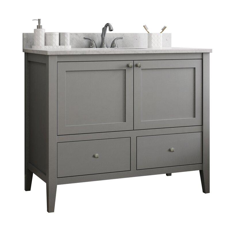 "CNC Cabinetry Vanguard 42"" Single Bathroom Vanity Base ..."