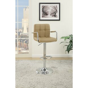 Chamness Gas Lift Arm Adjustable Height Bar Stool (Set of 2) Ebern Designs