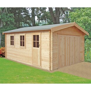Maier 14 X 19 Ft. Tongue And Groove Log Cabin Image