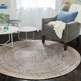 Bernard Handwoven Natural/Golden Brown/Blue Area Rug by Birch Lane™ Heritage