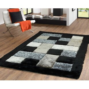 Best Price Hand-Tufted Black Area Rug By Rug Factory Plus