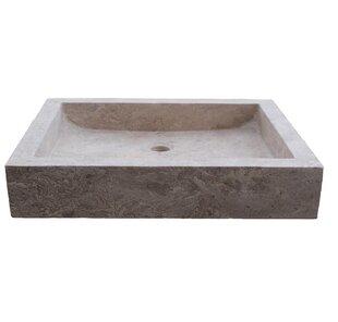 Angled Flow Stone Rectangular Vessel Bathroom Sink TashMart