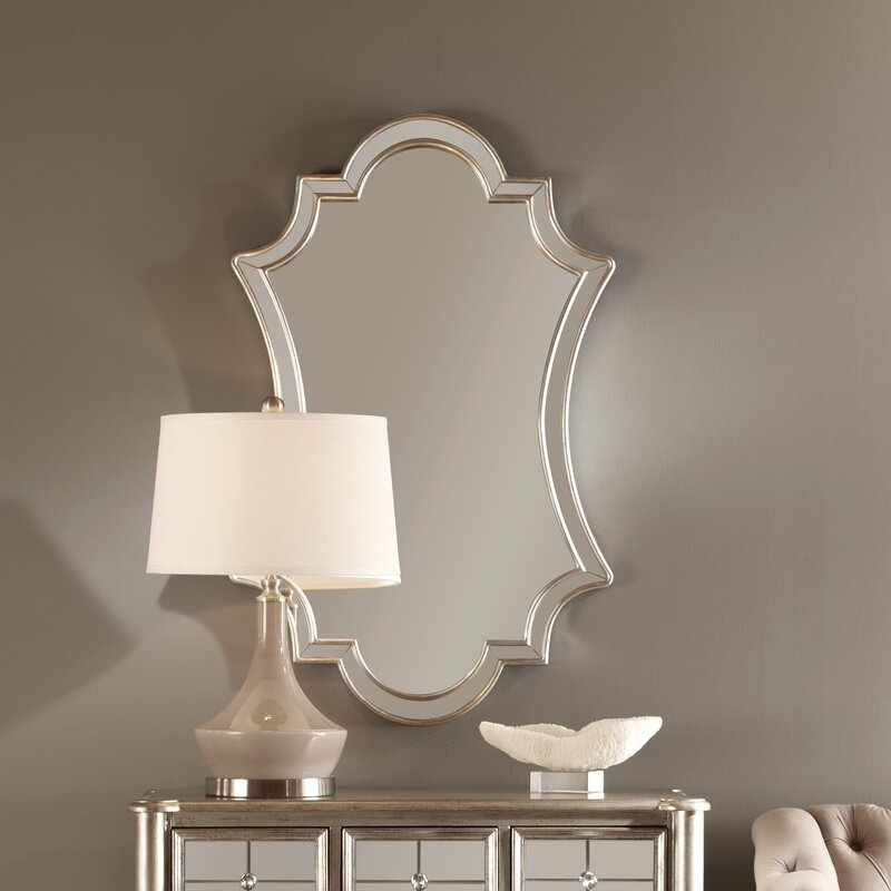 Willa Arlo Interiors Ellison Lightly Antiqued Silver Wall Mirror Reviews
