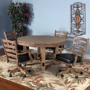 Waldron Solid Wood Dining Table Loon Peak