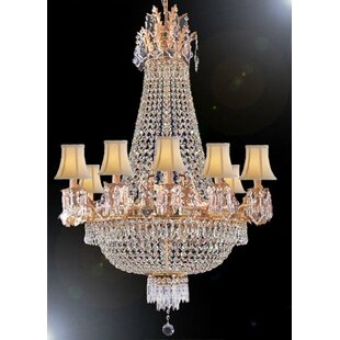 Rosdorf Park Stewart 12-Light Empire Chandelier